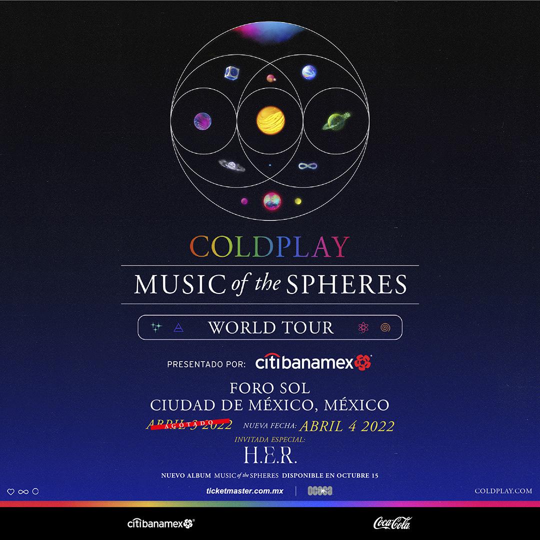 Esto es lo que podemos esperar de los conciertos de Coldplay en México
